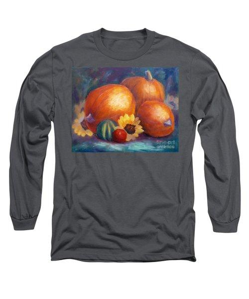 Pumpkins And Flowers Long Sleeve T-Shirt