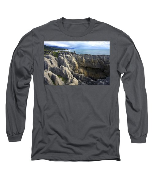 Punakaiki Pancake Rocks #2 Long Sleeve T-Shirt by Stuart Litoff