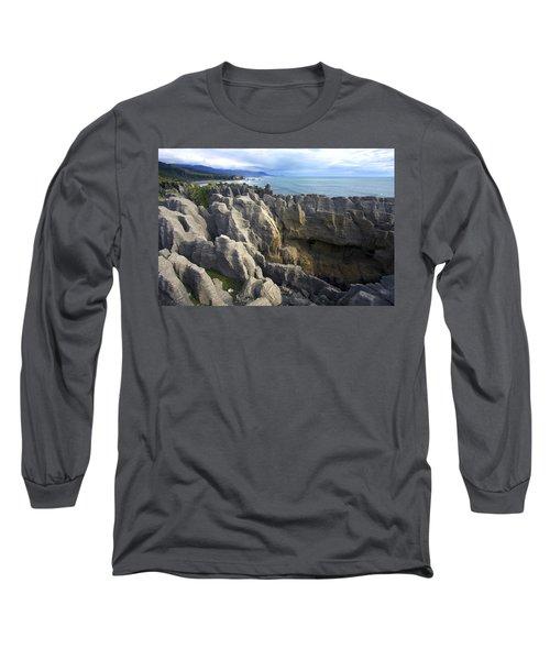 Long Sleeve T-Shirt featuring the photograph Punakaiki Pancake Rocks #2 by Stuart Litoff