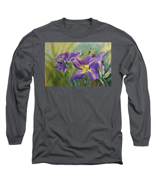 Purple Day Lily Long Sleeve T-Shirt