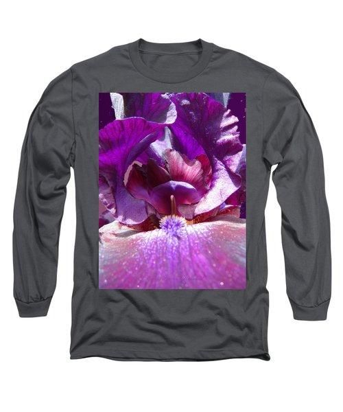 Purple Diva Long Sleeve T-Shirt by Brooks Garten Hauschild