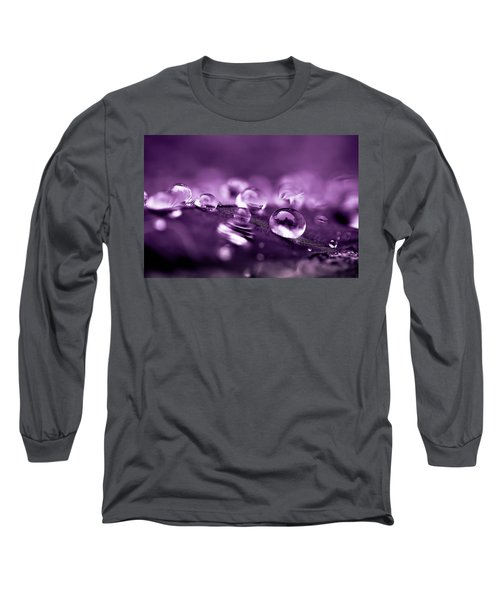 Purple Droplets Long Sleeve T-Shirt