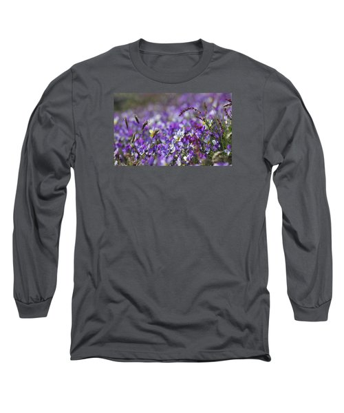 Purple Flower Bed Long Sleeve T-Shirt