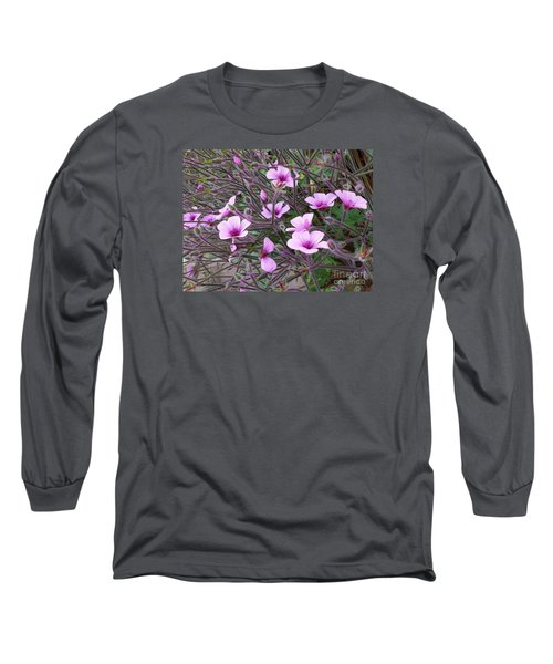 Long Sleeve T-Shirt featuring the photograph Purple Flowers by Jasna Gopic