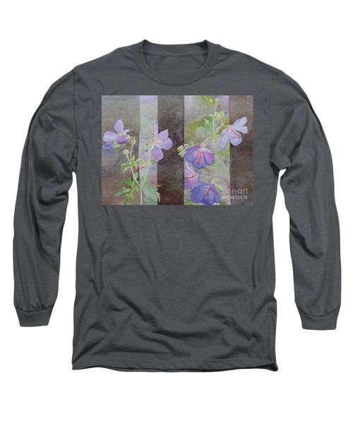 Purple Ivy Geranium Long Sleeve T-Shirt