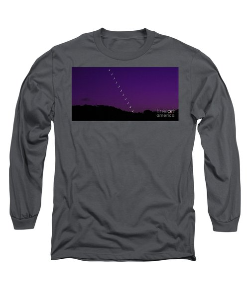 Purple Moon Setting In West Long Sleeve T-Shirt
