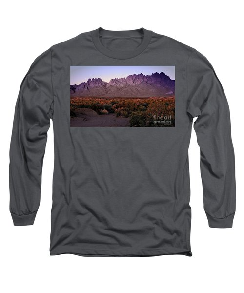 Long Sleeve T-Shirt featuring the photograph Purple Mountain Majesty by Barbara Chichester