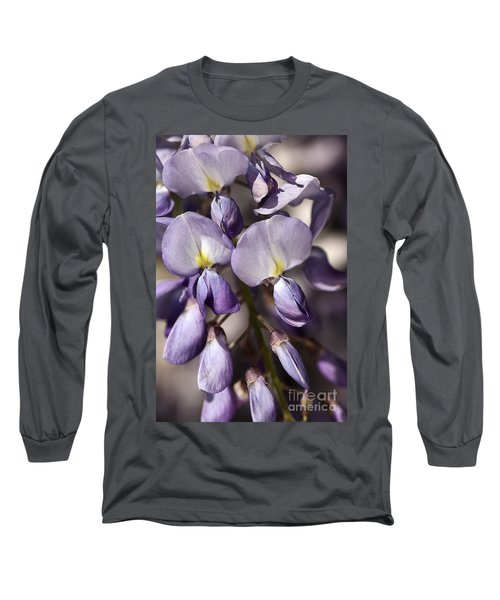 Long Sleeve T-Shirt featuring the photograph Purple Of Wisteria by Joy Watson