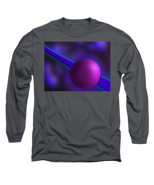 Purple Orb Long Sleeve T-Shirt by Paul Wear
