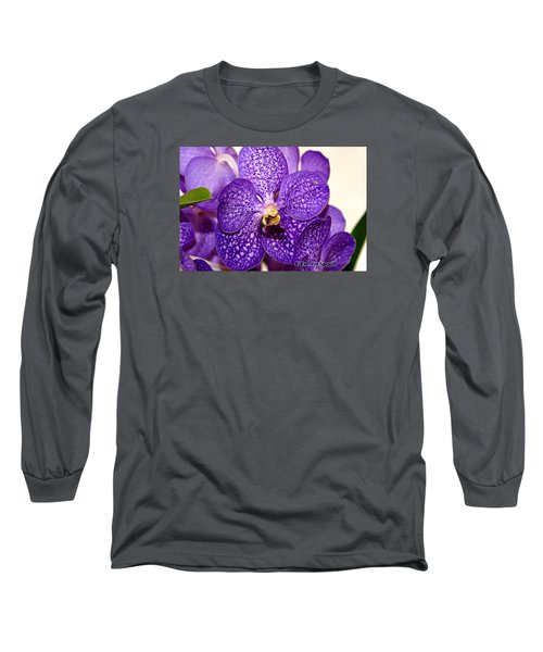 Purple Orchid Long Sleeve T-Shirt