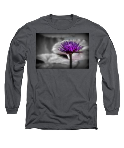 Purple Pond Lily Long Sleeve T-Shirt