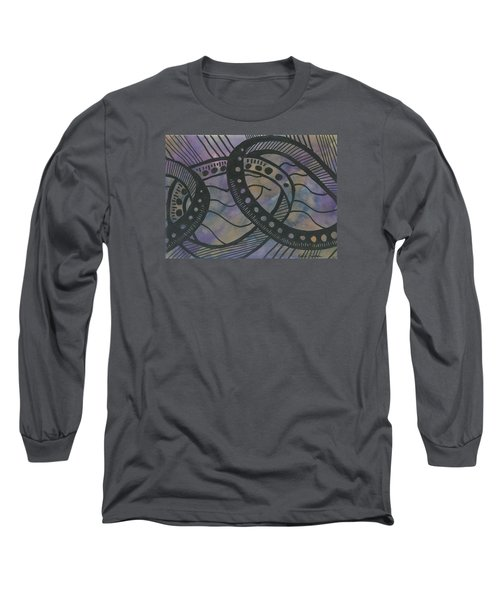 Purple Rings Long Sleeve T-Shirt