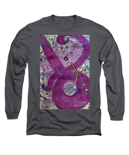 Purple Strings Long Sleeve T-Shirt by Jacqueline Athmann