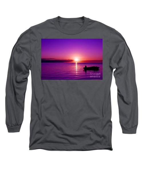 Long Sleeve T-Shirt featuring the photograph Purple Sunrise by Yew Kwang