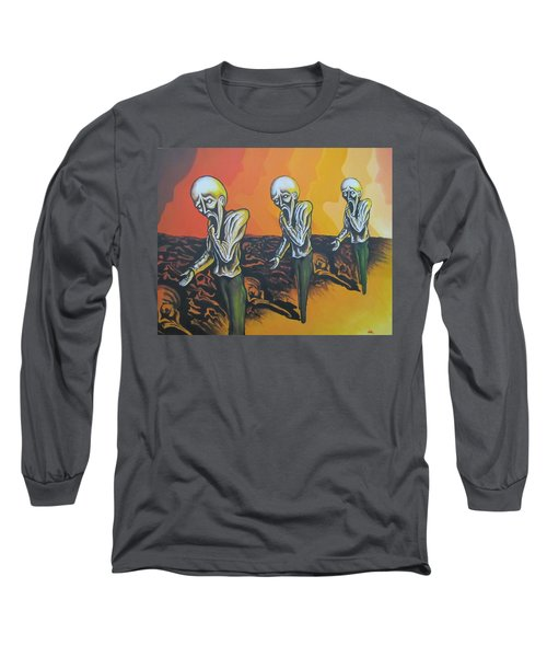 Question To Wonder Long Sleeve T-Shirt by Michael  TMAD Finney