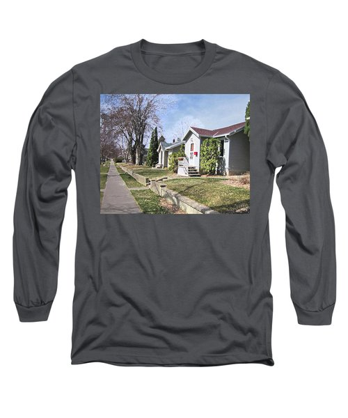 Long Sleeve T-Shirt featuring the digital art Quiet Street Waiting For Spring by Donald S Hall