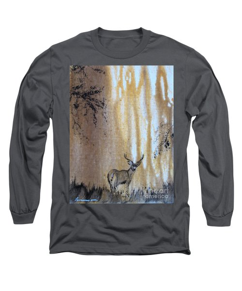 Quiet Time2 Long Sleeve T-Shirt by Laurianna Taylor