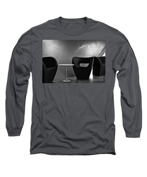 Quiet Zone Long Sleeve T-Shirt by Linda Bianic