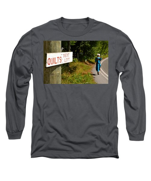 Quilts Next Left Long Sleeve T-Shirt