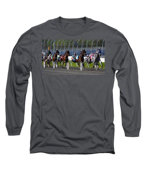 Long Sleeve T-Shirt featuring the photograph Race To The Finish by Davandra Cribbie