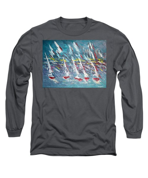 Racing To The Limits - Sold Long Sleeve T-Shirt by George Riney