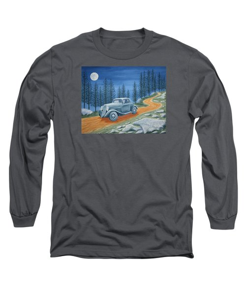 Long Sleeve T-Shirt featuring the painting Racing Was Born In North Carolina by Stacy C Bottoms