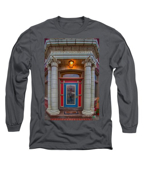 Railey And Bro Bkg Co Building Long Sleeve T-Shirt by Liane Wright