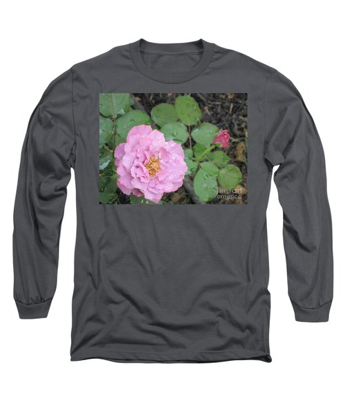 Rain Kissed Rose Long Sleeve T-Shirt