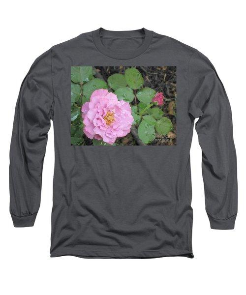 Rain Kissed Rose Long Sleeve T-Shirt