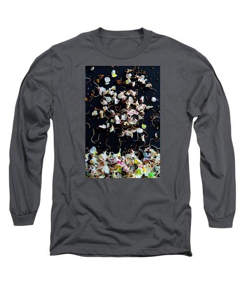 Long Sleeve T-Shirt featuring the photograph Rain Of Petals by Edgar Laureano