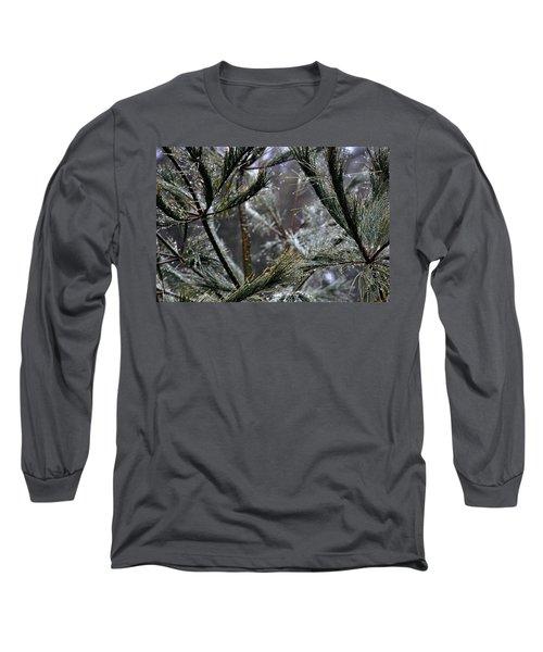 Rain On Pine Needles Long Sleeve T-Shirt