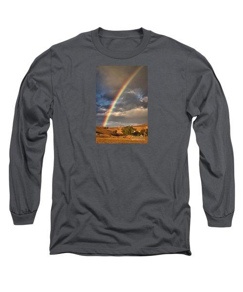 Rainbow Barn Long Sleeve T-Shirt by Alice Cahill