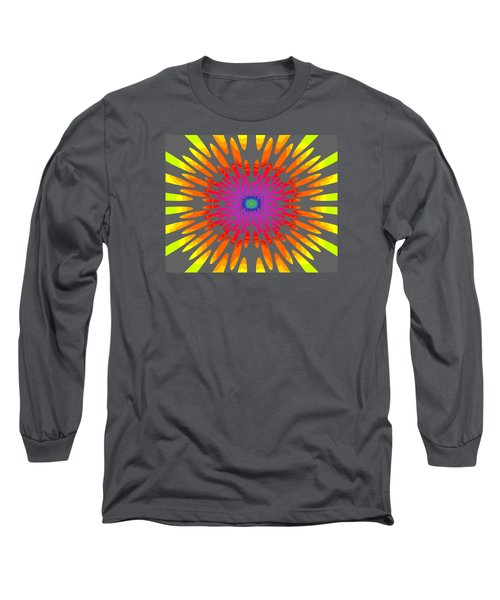 Rainbow Daisy Mandala  C2014  Long Sleeve T-Shirt