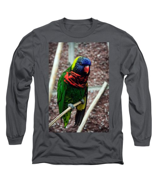 Long Sleeve T-Shirt featuring the photograph Rainbow Lory Too by Sennie Pierson