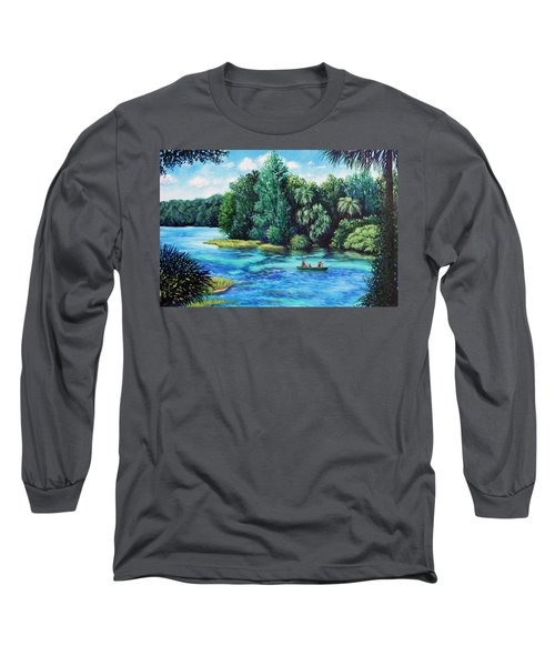 Rainbow River At Rainbow Springs Florida Long Sleeve T-Shirt by Penny Birch-Williams