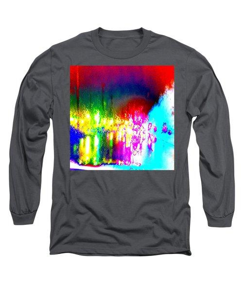 Rainbow Splash Abstract Long Sleeve T-Shirt