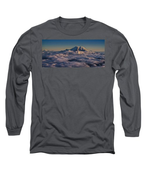Rainier Hood Adams And St Helens From The Air Long Sleeve T-Shirt