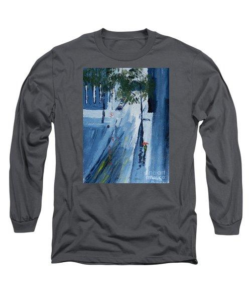 Raining Again Long Sleeve T-Shirt by Pamela  Meredith