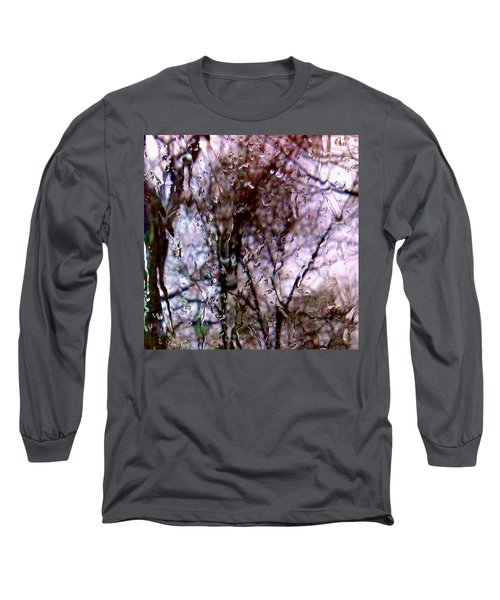 Long Sleeve T-Shirt featuring the photograph Rainscape - Rain On The Window Series 1 Abstract Photo by Marianne Dow
