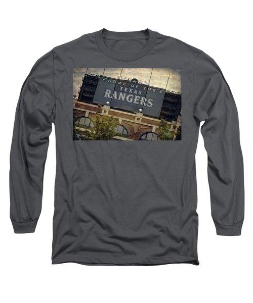 Rangers Ballpark In Arlington Color Long Sleeve T-Shirt