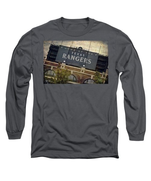 Rangers Ballpark In Arlington Color Long Sleeve T-Shirt