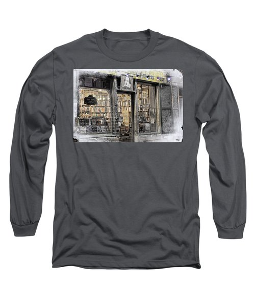 Rare Books Latin Quarter Paris France Long Sleeve T-Shirt