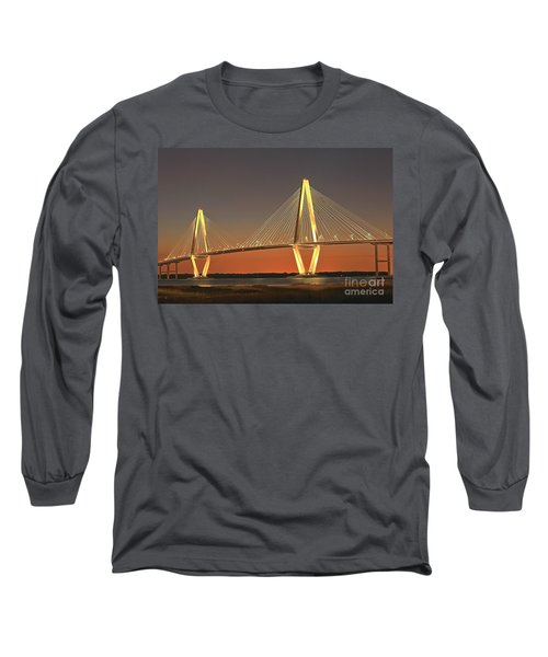 Ravenel Bridge At Dusk Long Sleeve T-Shirt