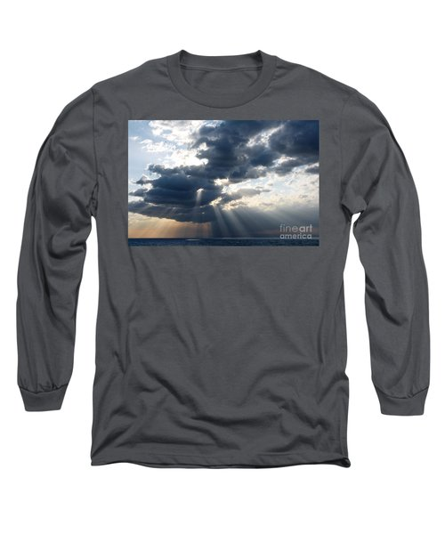 Rays And Clouds Long Sleeve T-Shirt