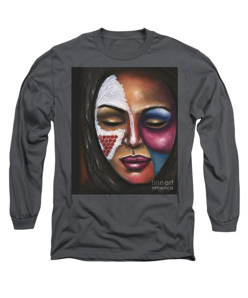 Long Sleeve T-Shirt featuring the painting Reaching Deep Within by Alga Washington