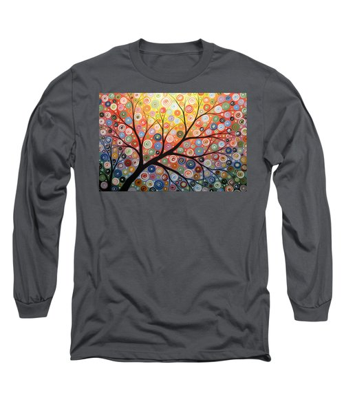 Long Sleeve T-Shirt featuring the painting Reaching For The Light by Amy Giacomelli