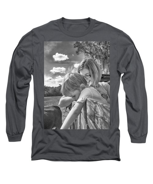 Long Sleeve T-Shirt featuring the photograph Reaching by Howard Salmon