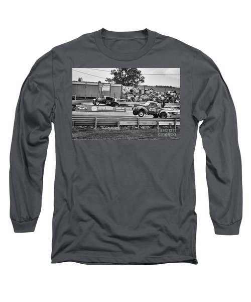 Rebel Reaper Wheelstand Long Sleeve T-Shirt by Dennis Hedberg