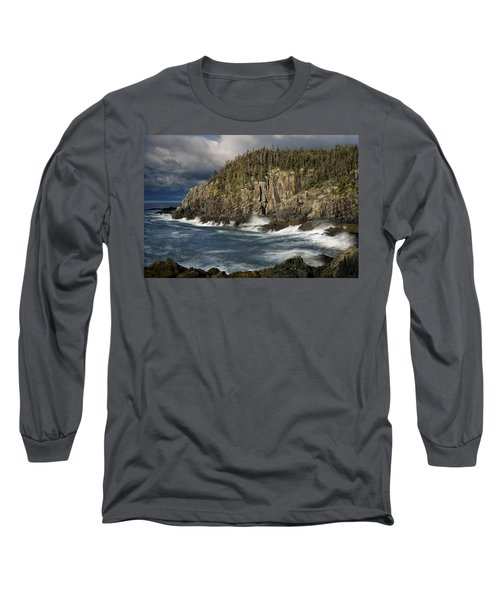 Receding Storm At Gulliver's Hole Long Sleeve T-Shirt