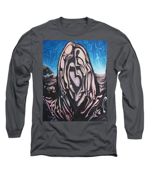 Long Sleeve T-Shirt featuring the painting Recluse by Michael  TMAD Finney